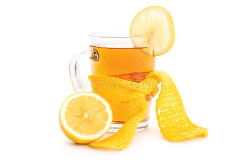 τσάι μαντίλι λεμονιών φλυτ& στοκ εικόνες
