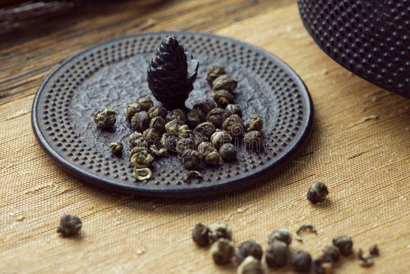 Τσάι μαργαριταριών της Jasmine στοκ φωτογραφία με δικαίωμα ελεύθερης χρήσης