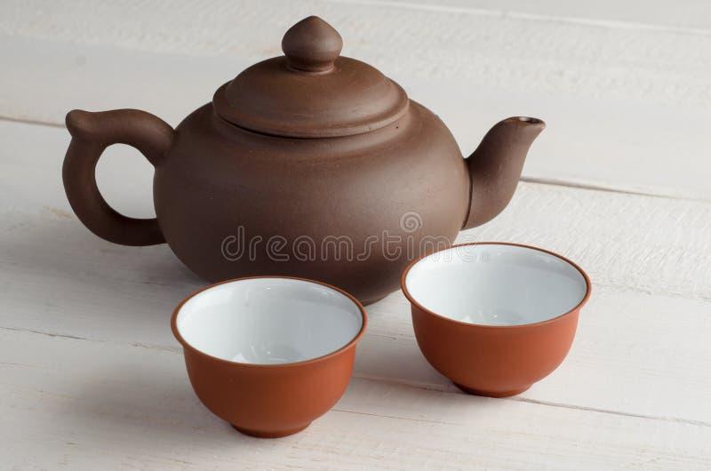 Τσάι που τίθεται στο ξύλινο υπόβαθρο στοκ εικόνα με δικαίωμα ελεύθερης χρήσης