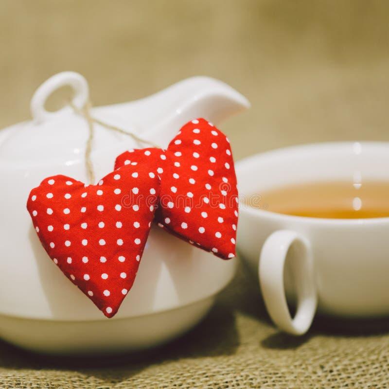 Τσάι πρωινού βαλεντίνου στοκ εικόνες