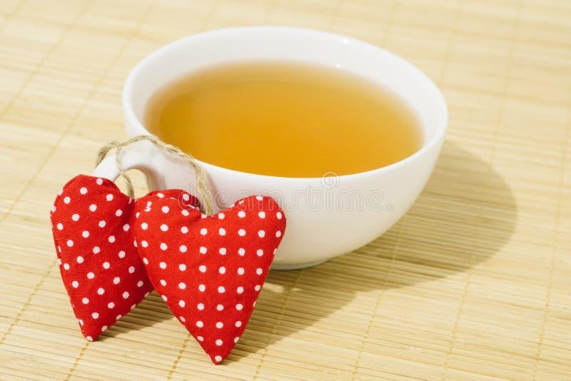 Τσάι πρωινού βαλεντίνου στοκ φωτογραφίες