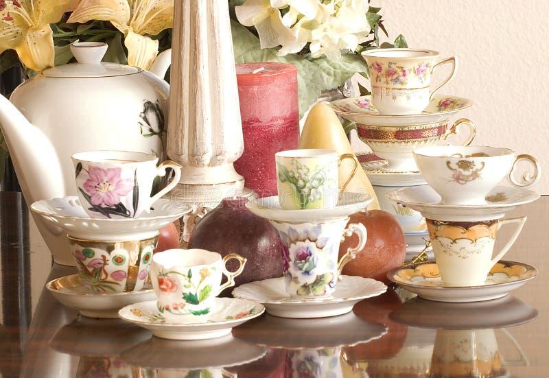 τσάι συμβαλλόμενων μερών στοκ φωτογραφία με δικαίωμα ελεύθερης χρήσης