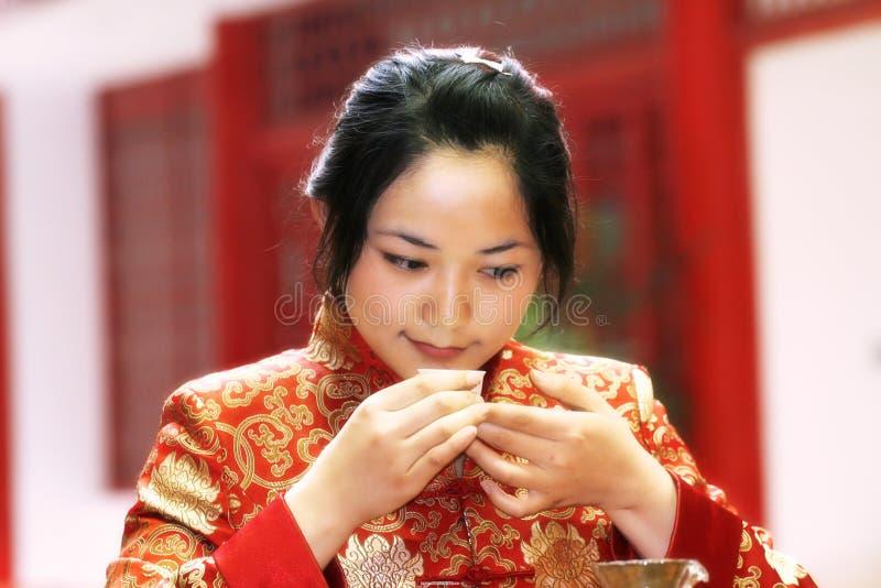 τσάι της Κίνας τέχνης στοκ εικόνα