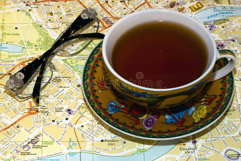 τσάι του Λονδίνου στοκ φωτογραφία