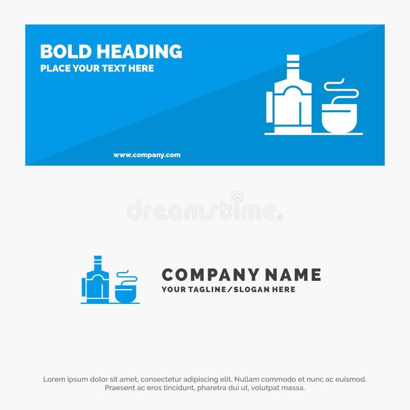 Τσάι, φλυτζάνι, καυτό, έμβλημα ιστοχώρου εικονιδίων ξενοδοχείων στερεά και πρότυπο επιχειρησιακών λογότυπων ελεύθερη απεικόνιση δικαιώματος