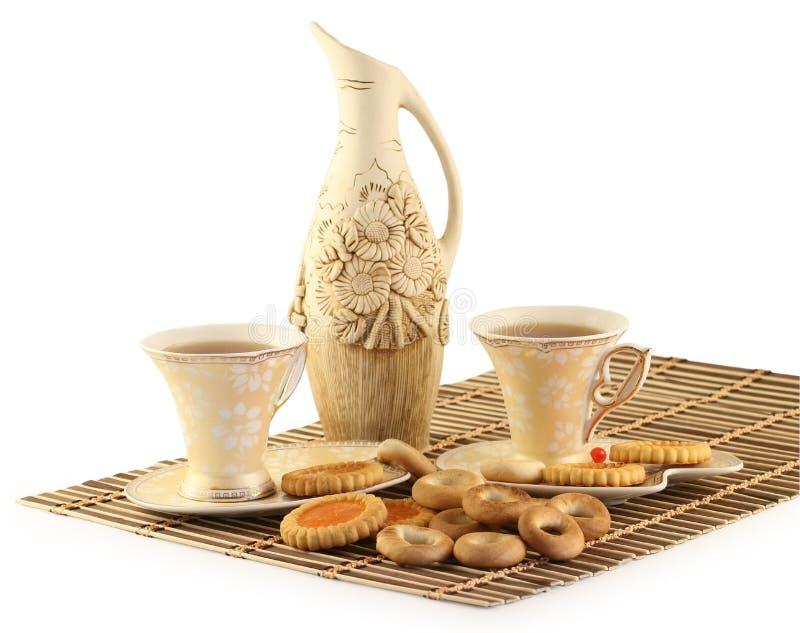 τσάι φλυτζανιών μπισκότων στοκ εικόνες με δικαίωμα ελεύθερης χρήσης