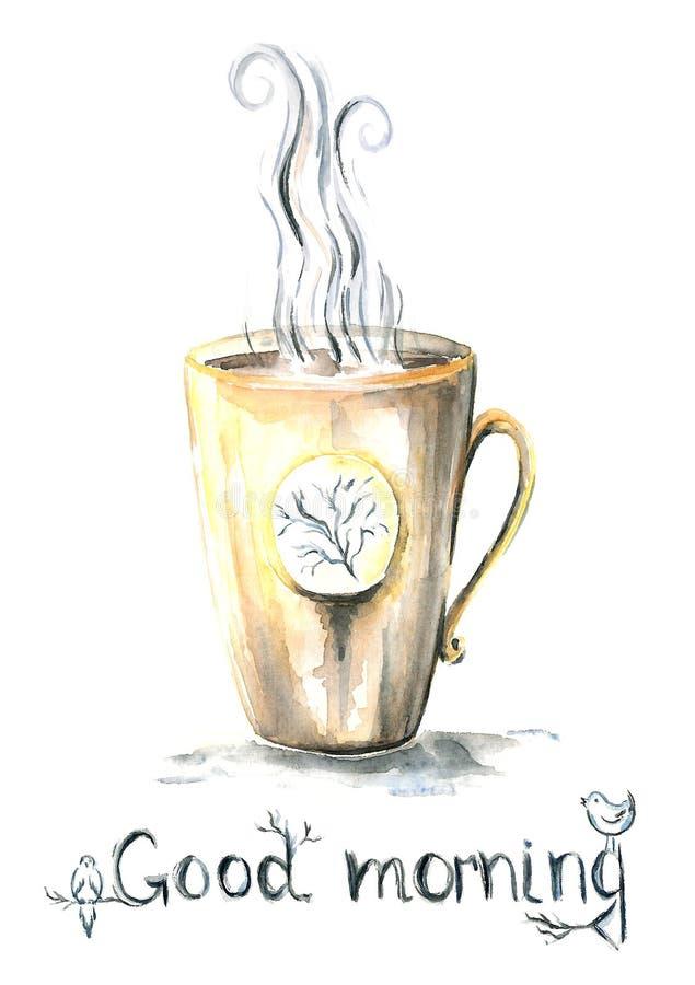τσάι φλυτζανιών καφέ απεικόνιση αποθεμάτων
