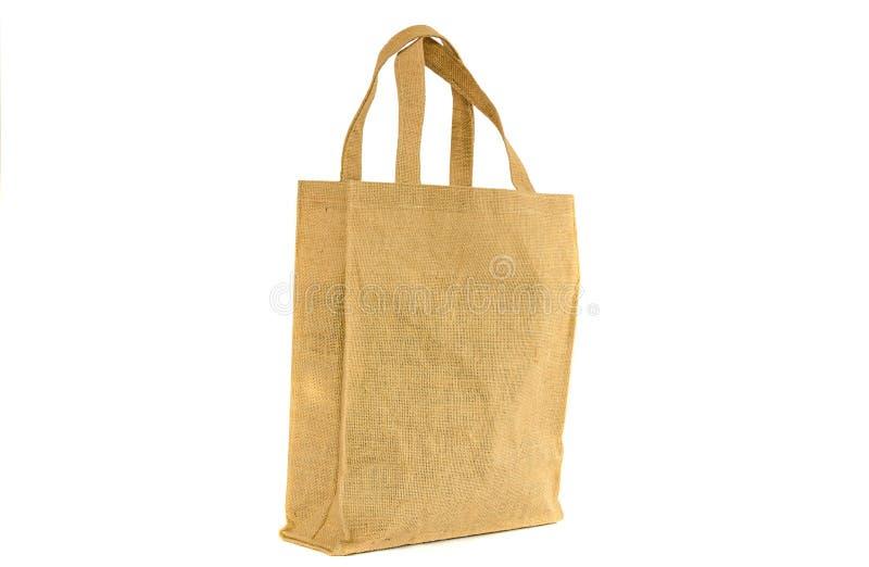 Τσάντα αγορών που γίνεται από τον ανακυκλωμένο σάκο στοκ εικόνα