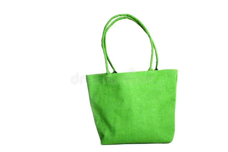 Τσάντα αγορών που γίνεται από τον ανακυκλωμένο Hessian σάκο στοκ εικόνες με δικαίωμα ελεύθερης χρήσης