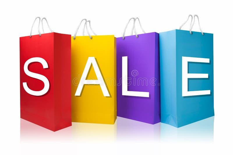 Τσάντα αγορών πώλησης, που απομονώνεται με το ψαλίδισμα της πορείας στοκ φωτογραφίες με δικαίωμα ελεύθερης χρήσης