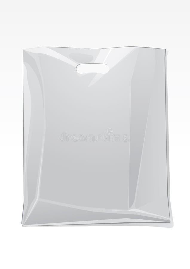 τσάντα διαφανής διανυσματική απεικόνιση