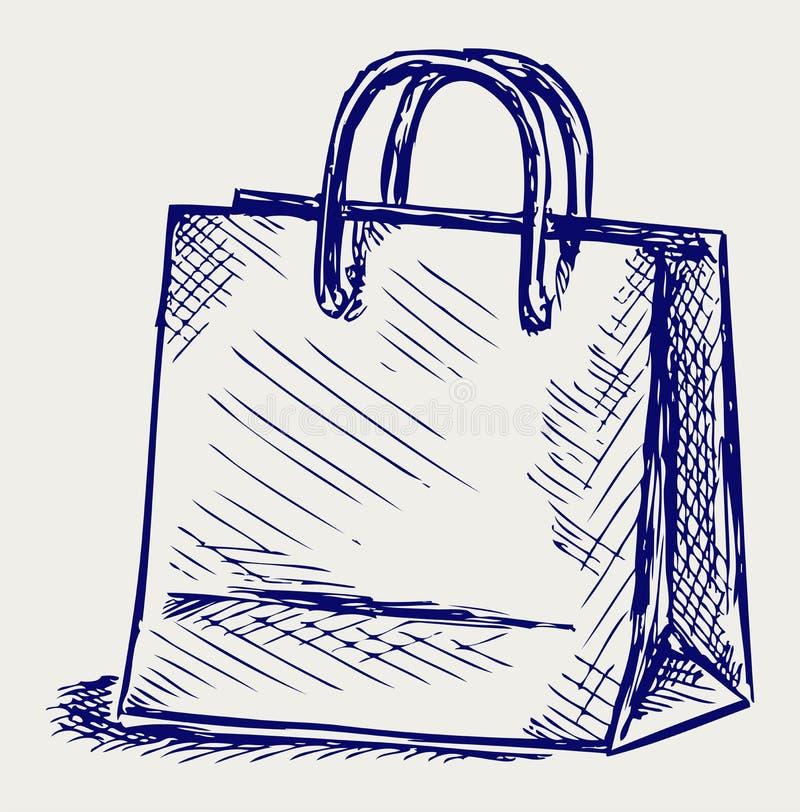 Τσάντα εγγράφου διανυσματική απεικόνιση