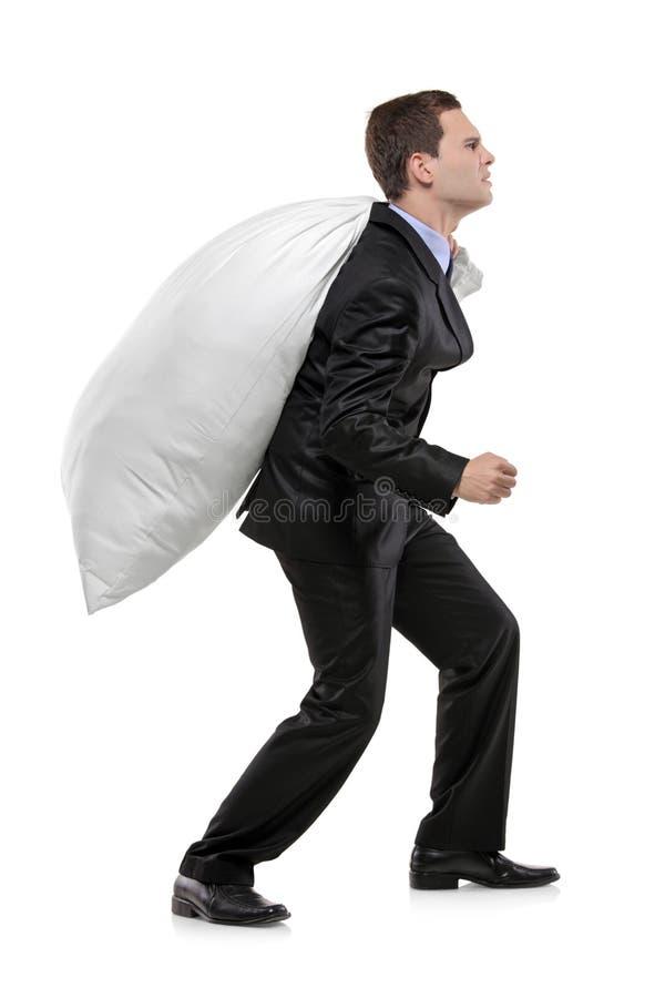 τσάντα που φέρνει το πλήρε&sig στοκ εικόνα