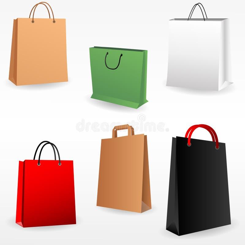 Τσάντες αγορών που τίθενται απεικόνιση αποθεμάτων