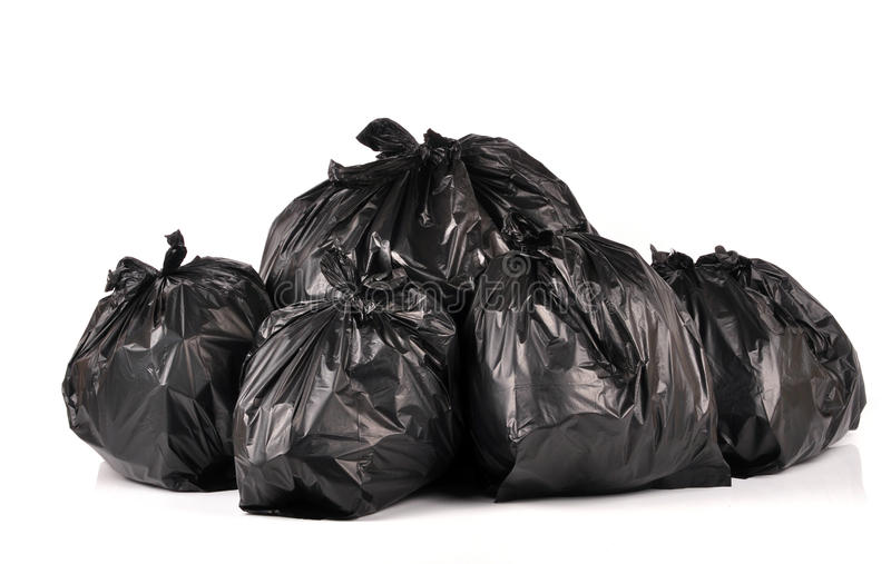 τσάντες μαύροι Βρετανοί στοκ φωτογραφία