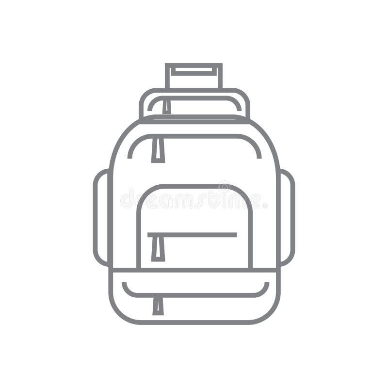 Τσάντες σακιδίων πλάτης ή πεζοπορώ τουριστών, γραμμικό εικονίδιο σακιδίων επίσης corel σύρετε το διάνυσμα απεικόνισης απεικόνιση αποθεμάτων