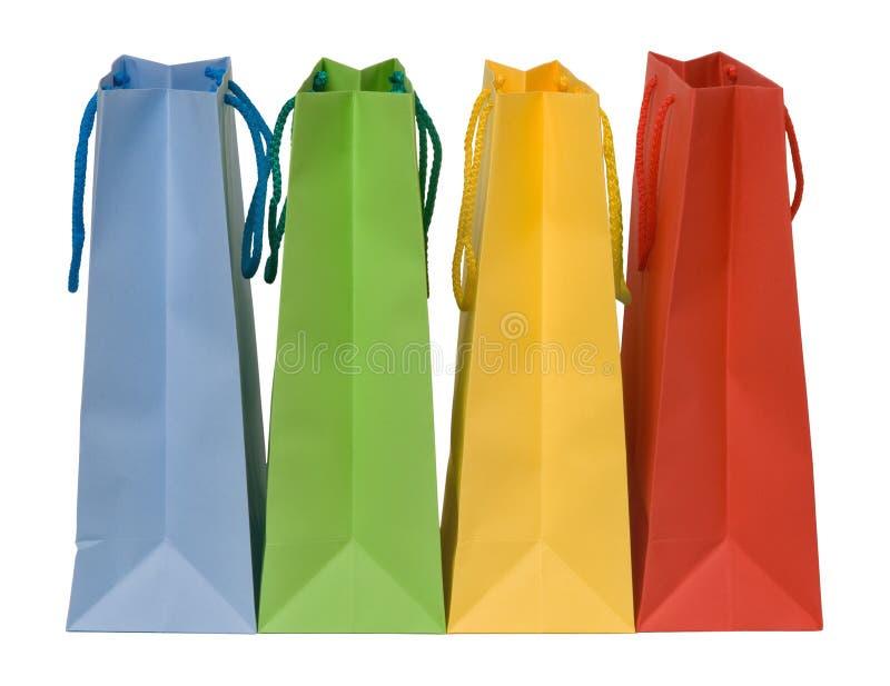 τσάντες τέσσερα που ψωνίζ&o στοκ φωτογραφίες με δικαίωμα ελεύθερης χρήσης