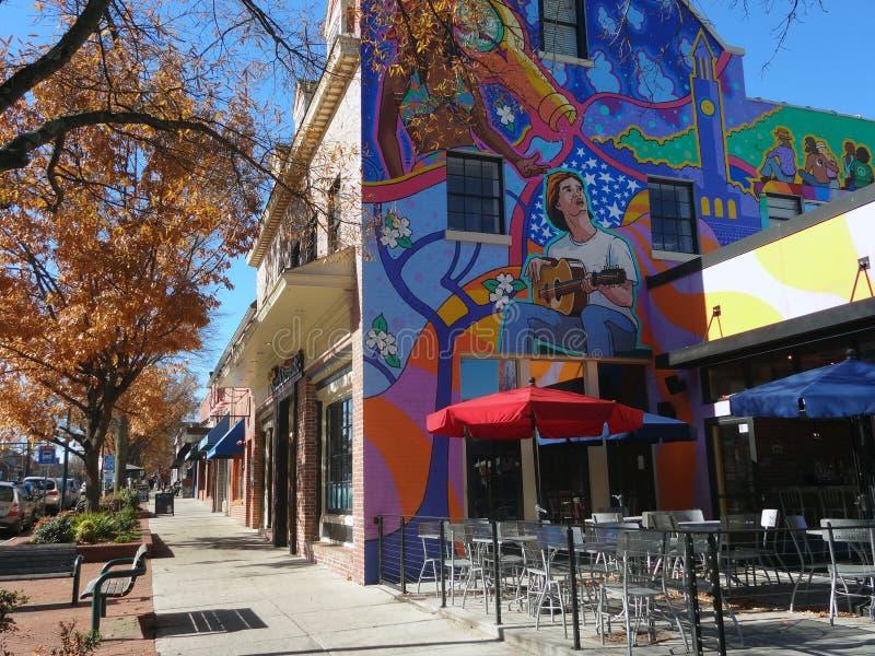 Τσάπελ Χιλ, βόρεια Καρολίνα - μια αληθινή πόλη κολλεγίου στοκ φωτογραφίες με δικαίωμα ελεύθερης χρήσης