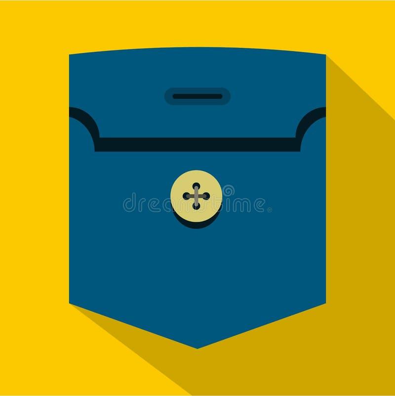 Τσέπη με το εικονίδιο κουμπιών, επίπεδο ύφος ελεύθερη απεικόνιση δικαιώματος