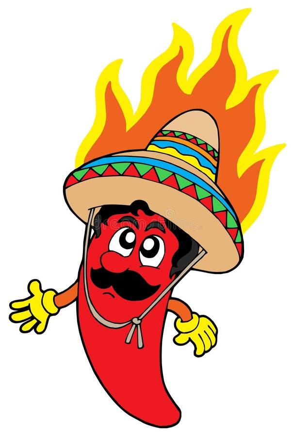 τσίλι καυτός μεξικανός διανυσματική απεικόνιση