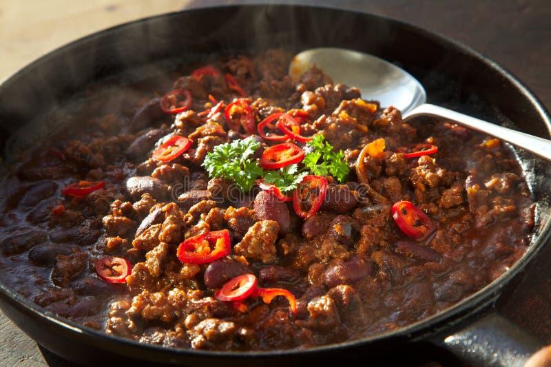 Τσίλι Con Carne στοκ εικόνες
