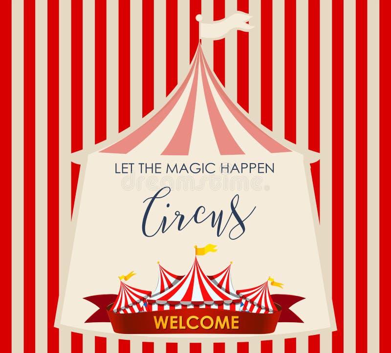 Τσίρκο, έκθεση διασκέδασης, πρότυπο θέματος λούνα παρκ απεικόνιση αποθεμάτων