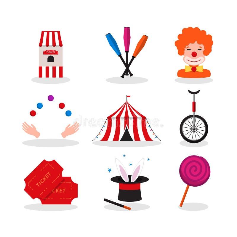 Τσίρκο για το σχέδιο εορτασμού διανυσματική απεικόνιση