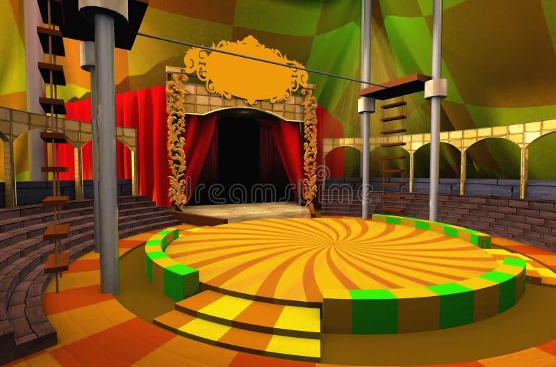 τσίρκο εικονικό ελεύθερη απεικόνιση δικαιώματος