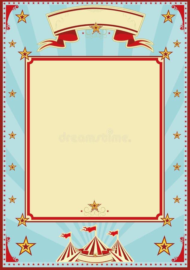 Τσίρκο ηλιαχτίδων μπλε και κρέμας στοκ φωτογραφία με δικαίωμα ελεύθερης χρήσης