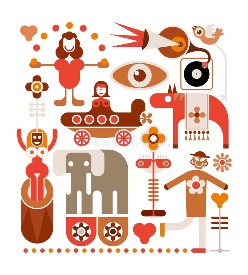 Τσίρκο - διανυσματική απεικόνιση απεικόνιση αποθεμάτων