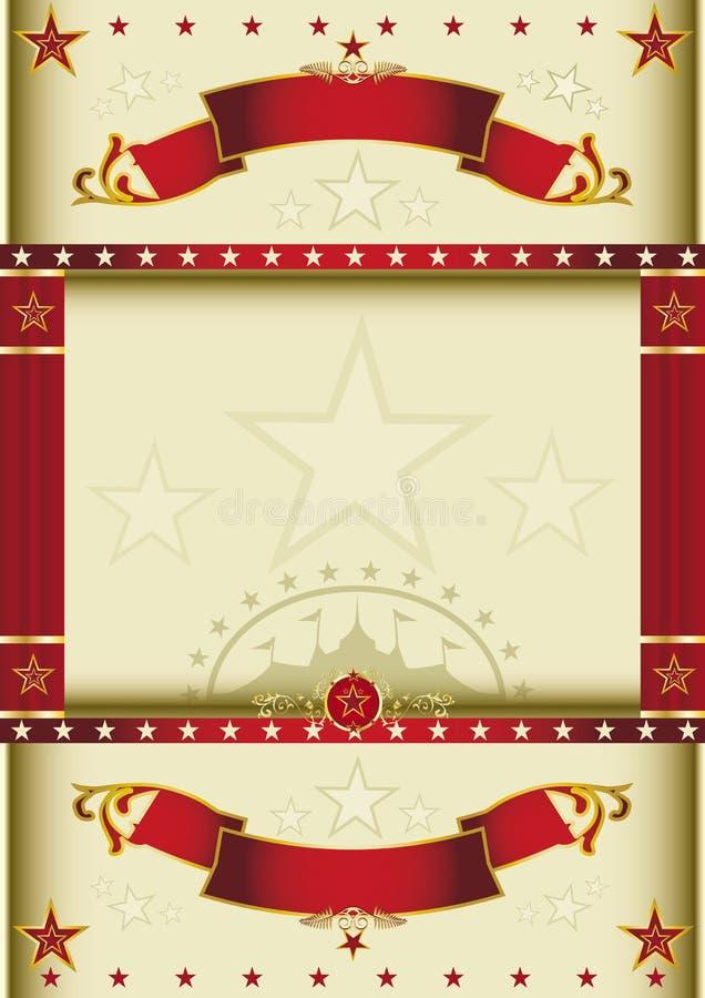 Τσίρκο κρέμας αφισών διανυσματική απεικόνιση