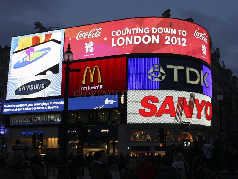 τσίρκο Λονδίνο του 2012 piccadilly στοκ εικόνες με δικαίωμα ελεύθερης χρήσης