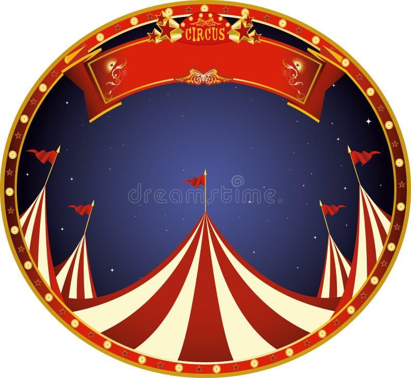 Τσίρκο νύχτας αυτοκόλλητων ετικεττών ελεύθερη απεικόνιση δικαιώματος