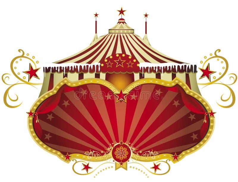 Τσίρκο σημαδιών Χριστουγέννων διανυσματική απεικόνιση