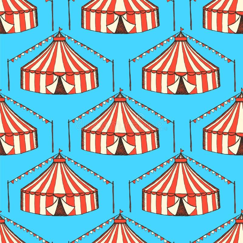 Τσίρκο σκίτσων στο εκλεκτής ποιότητας ύφος ελεύθερη απεικόνιση δικαιώματος