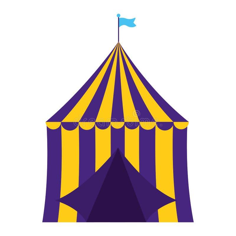 Τσίρκο σκηνών καρναβαλιού απεικόνιση αποθεμάτων