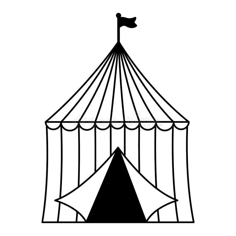 Τσίρκο σκηνών καρναβαλιού ελεύθερη απεικόνιση δικαιώματος