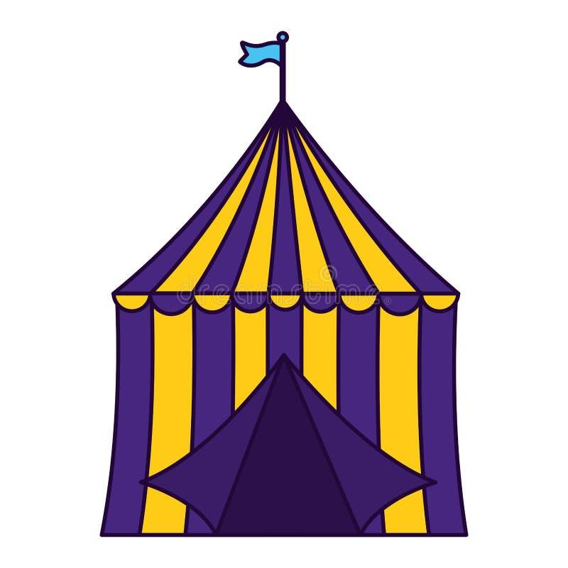 Τσίρκο σκηνών καρναβαλιού διανυσματική απεικόνιση