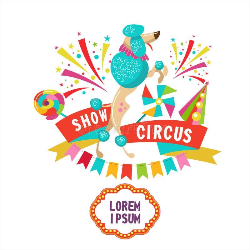 Τσίρκο clipart Poodle τσίρκων απεικόνιση αποθεμάτων