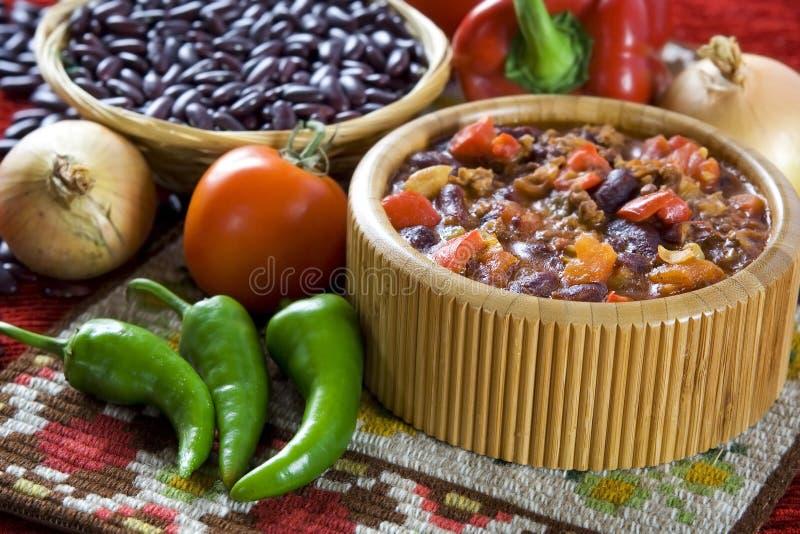 Τσίλι con carne στοκ εικόνα με δικαίωμα ελεύθερης χρήσης
