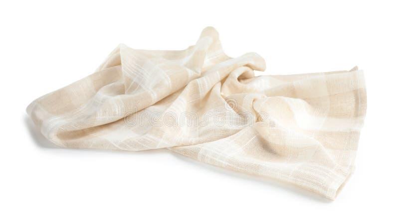 Τσαλακωμένη ελεγμένη πετσέτα κουζινών υφάσματος στοκ φωτογραφίες