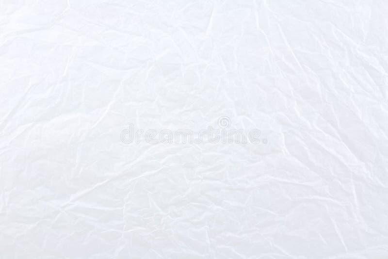 τσαλακωμένο ανασκόπηση λευκό εγγράφου στοκ φωτογραφία