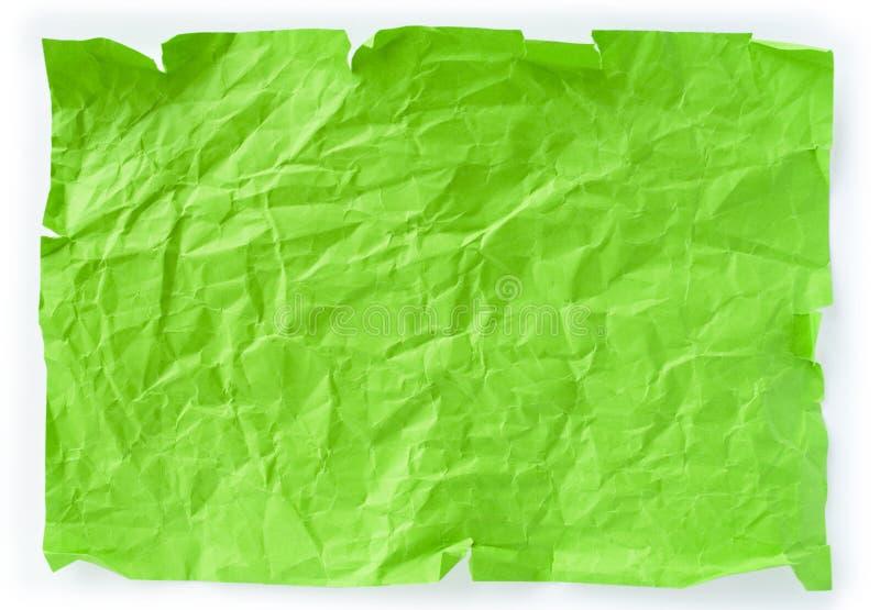 τσαλακωμένο κομμάτι Πράσι&nu στοκ φωτογραφία με δικαίωμα ελεύθερης χρήσης