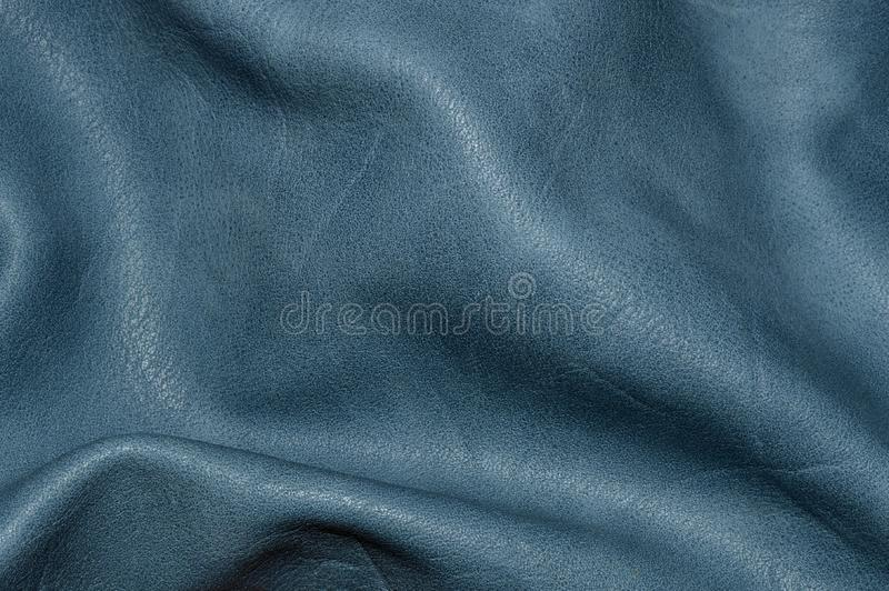 Τσαλακωμένο κυματιστό μπλε δερμάτων ήπια στοκ φωτογραφίες με δικαίωμα ελεύθερης χρήσης