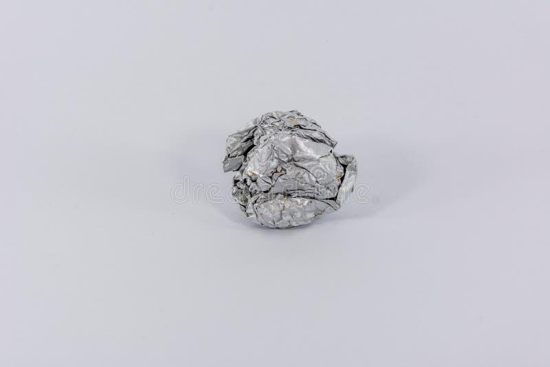 Τσαλακωμένο φύλλο αλουμινίου κασσίτερου στοκ φωτογραφία