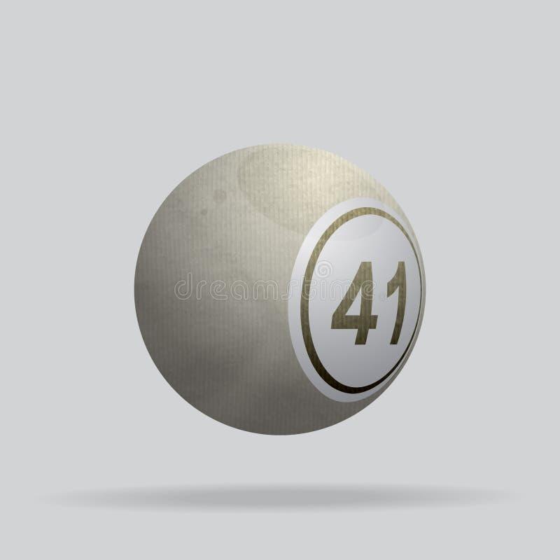 Τσαλακωμένη ελεφαντόδοντο υλική σφαίρα bingo διανυσματική απεικόνιση