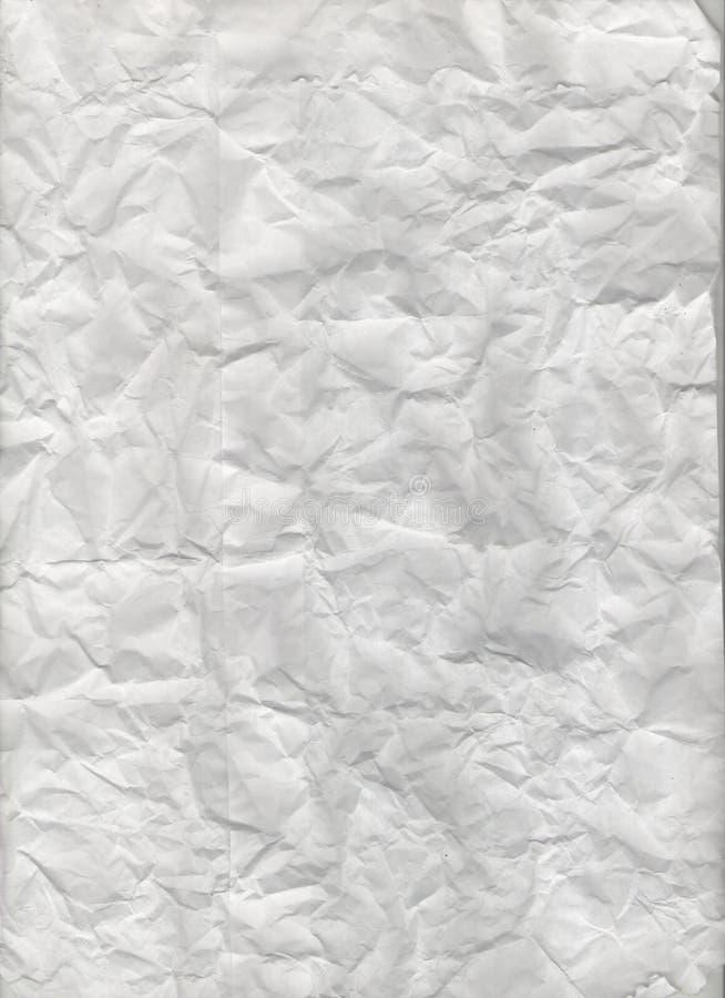 Τσαλακωμένη σύσταση εγγράφου. στοκ εικόνες