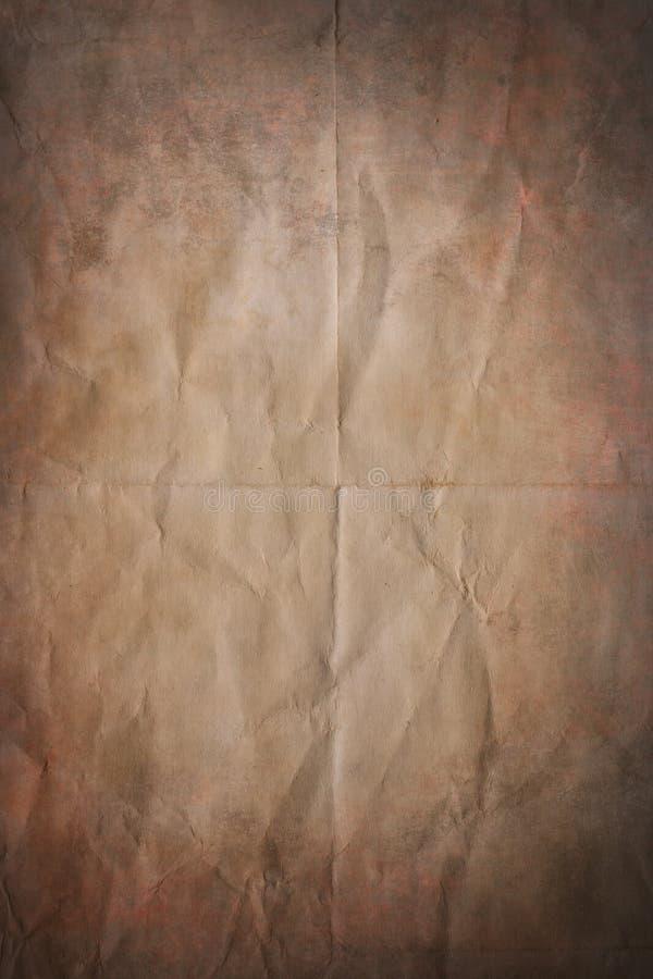 τσαλακωμένο παλαιό έγγρα&p στοκ εικόνα με δικαίωμα ελεύθερης χρήσης