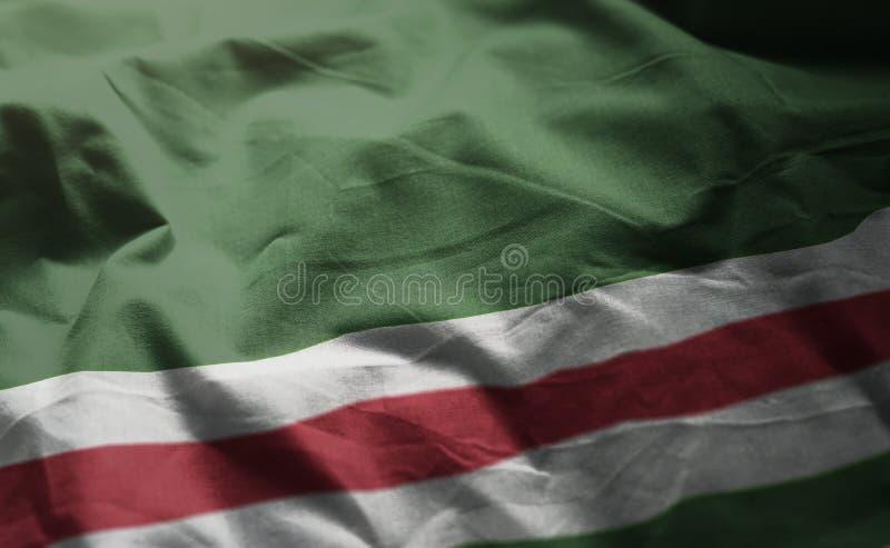 Τσετσένια Δημοκρατία στενού επάνω Rumpled σημαιών Ichkeria στοκ φωτογραφίες με δικαίωμα ελεύθερης χρήσης