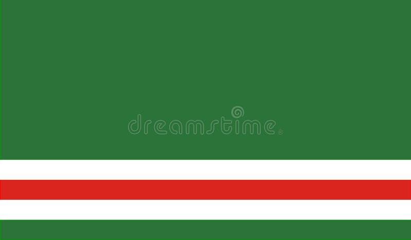 Τσετσένια Δημοκρατία της σημαίας Ichkeria ελεύθερη απεικόνιση δικαιώματος